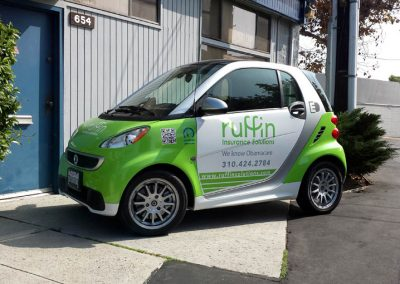 La Wraps Smart Car Electric Ruffin Wrap