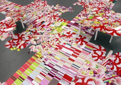 La Wraps PDC Floor Wall Graphic Installation Elena Manferdini Exhibition Art Gallery Wrap