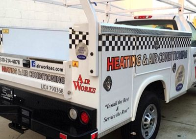 La Wraps Air Works Hvac Truck Diecut Wrap
