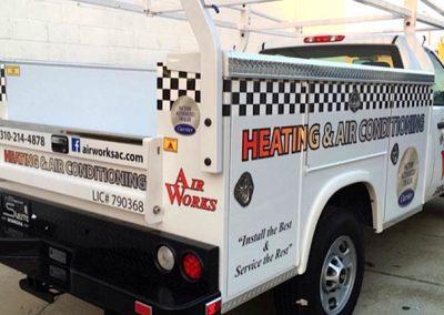 La Wraps Air Works Hvac Truck Diecut Wrap