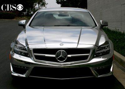 La Wraps Beverly Hills Cop Chrome Mercedes Tv Show Prop Car Wrap 1