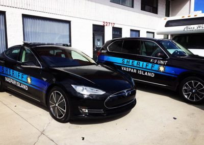La Wraps Extant Sheriff Graphics Prop Car Tv Show Wrap