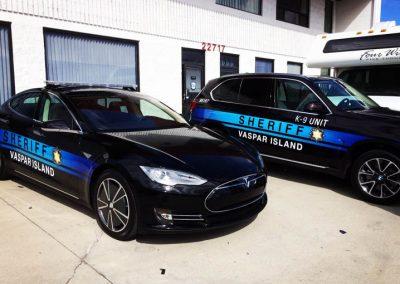 La Wraps Extant Sheriff Graphics Prop Car Tv Show Wrap
