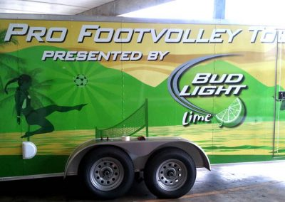 La Wraps Foot Volley Trailer Side Wrap