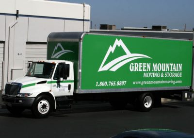 La Wraps Green Mountain Movers Box Truck Wrap