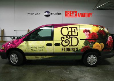 La Wraps Greys Anatomy Prop Car Florist Van Wrap