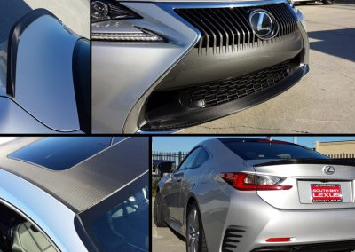 La Wraps Lexus Dealership Carbon Fiber Appearance Package Wrap