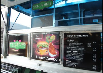 La Wraps Lunch Truck Service Side Menu Graphics