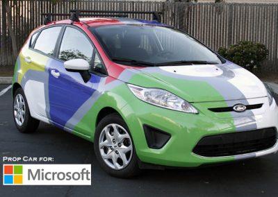 La Wraps Microsoft Car Commerical Wrap