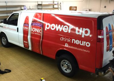 La Wraps Neuro Drinks Van Wrap