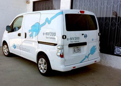 La Wraps Nissan Nv200 Test Vehicle Die Cut Vinyl 1