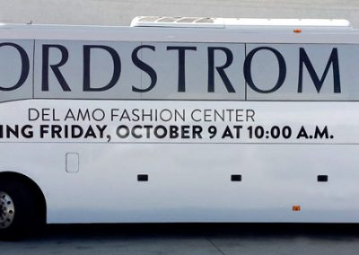 La Wraps Nordstroms Grand Opening Announcement Promotional Bus Wrap