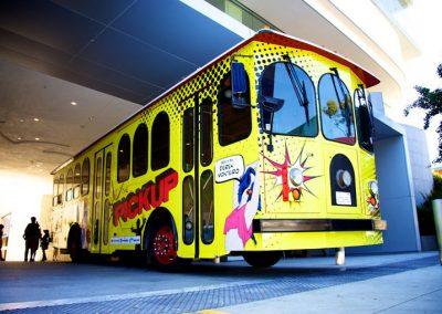 La Wraps Pickup Trolley West Hollywood Bus Wrap