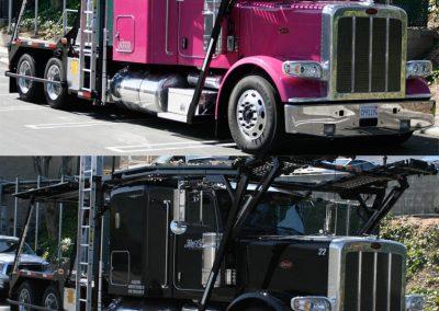 La Wraps Pink Semi Truck Custom Wrap