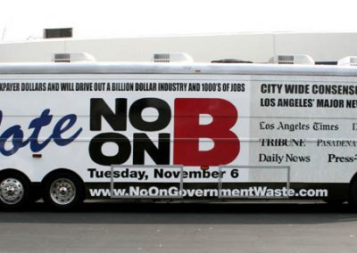 La Wraps Politicial Advertising Bus Wrap