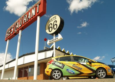 La Wraps Scan Guage Fiesta Route 66 Wrap