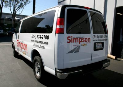 La Wraps Simpson Chevrolet E350van Wrap