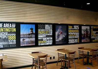 La Wraps Sushi Restaurant Wall Wrap