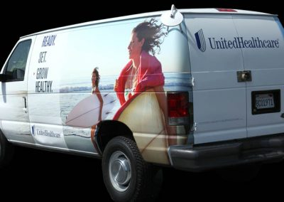 La Wraps United Healthcare Van Wrap