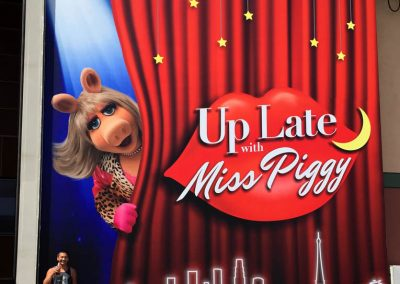 La Wraps Up Late With Miss Piggy Muppets Door Stage Door Huge Wrap
