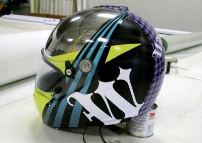 La Wraps Walker Wilkerson Custom Race Helmet Wrap 1