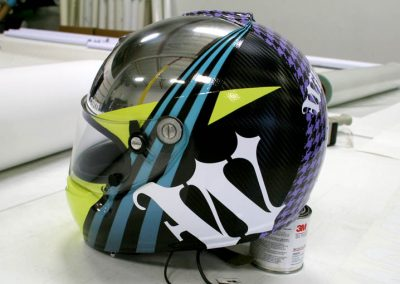 La Wraps Walker Wilkerson Custom Race Helmet Wrap