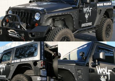 La Wraps Wolf Security Jeep Die Cuts