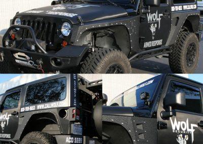 La Wraps Wolf Security Jeep Die Cuts
