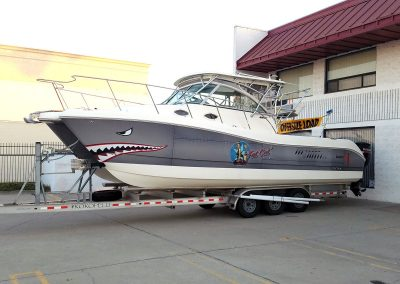 La Wraps Catamaran Shark Mouth Boat Wrap 3
