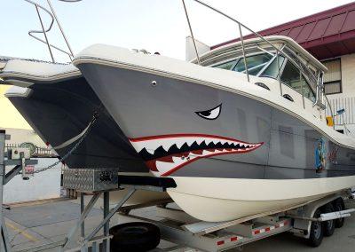 La Wraps Catamaran Shark Mouth Boat Wrap 4