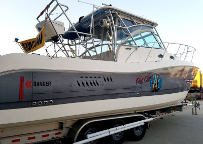La Wraps Catamaran Shark Mouth Boat Wrap 5