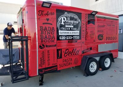 La Wraps Pellegrinos Trailer Wrap